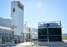 Carbon Engineering's direct air capture pilot plant in Squamish, British Columbia. CARBON ENGINEERING