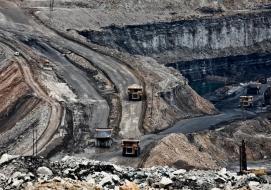Nigahi coal mine, India's largest open cast mine, operated by NCL (Northern Coalfields Limited) in the Singrauli coalfield. Photograph: Greenpeace/Sudhanshu Malhotra