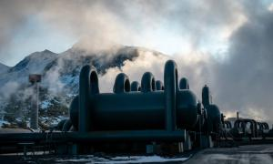 The CarbFix project uses carbon dioxide that bubbles up naturally with the hot magma that powers the Hellisheidi Geothermal Power Station in Iceland. Credit Bara Kristinsdottir for The New York Times