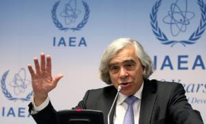 US Secretary of Energy Ernest Moniz said there's going to be a great wave of nuclear energy facilities retiring in about 15 years. Decisions about whether to replace them must be made much earlier than that, he said. (AP Photo/Ronald Zak)