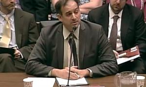 Dr. Julio Friedmann, deputy assistant secretary for clean coal at the DOE, testifies before a Congressional subcommittee.