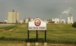 Red Trail Energy, shown on July 31, 2018, is moving forward with a carbon capture project and storage project that would reduce the carbon intensity of ethanol produced at the Richardton, N.D., plant. MIKKEL PATES, FORUM NEWS SERVICE