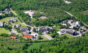 Aerial view shot of the Bells Corners Complex which houses CanmetENERGY-Ottawa, CanmetMINING and CanmetCERL/Natural Resouces Canada