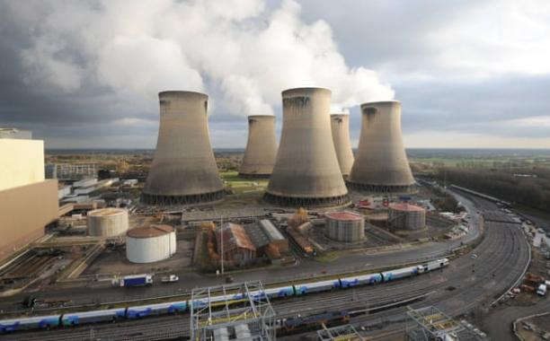 Drax power station is piloting the first bioenergy carbon capture storage project of its type in Europe. Photograph: Anna Gowthorpe/PA