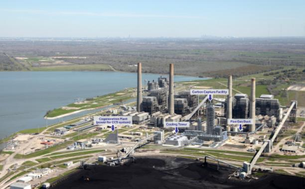 The WA Parish plant showing the carbon capture facility that will be part of the world's largest post-combustion carbon capture-enhanced Oil Recovery project. The project is expected to be operational by the end of 2016. (Photo: Business Wire)