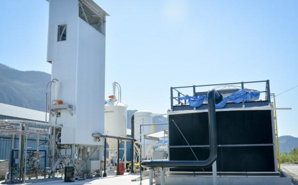 Carbon Engineering's direct air capture pilot plant in Squamish, British Columbia. CARBON ENGINEERING