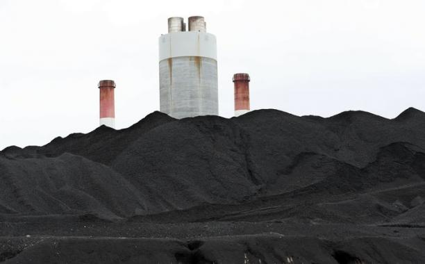 Coal is piled up at the Gallatin Fossil Plant in Gallatin, Tenn. Mark Humphrey/AP