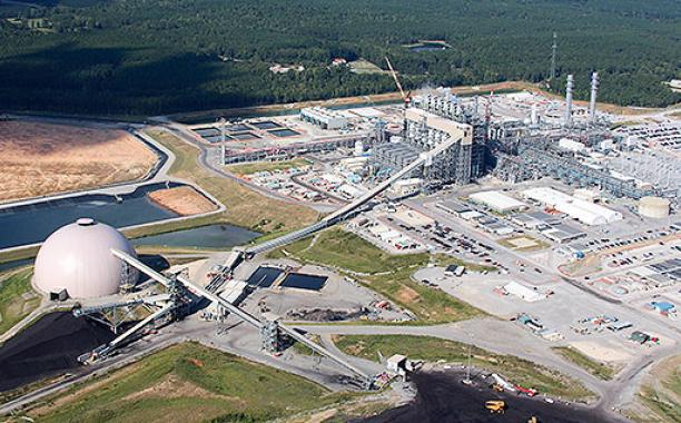 An aerial view of Mississippi Power's Kemper County Energy Facility. Mississippi Power