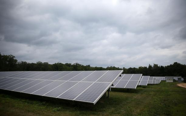 A solar farm in Hughsville, Maryland supplies enough electricity for 600 homes. MARK WILSON | GETTY